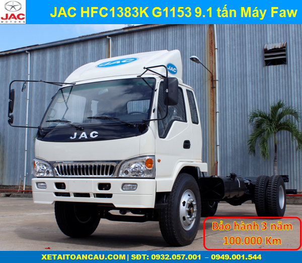 Xe tải Jac 9T1 HFC1383K chassis