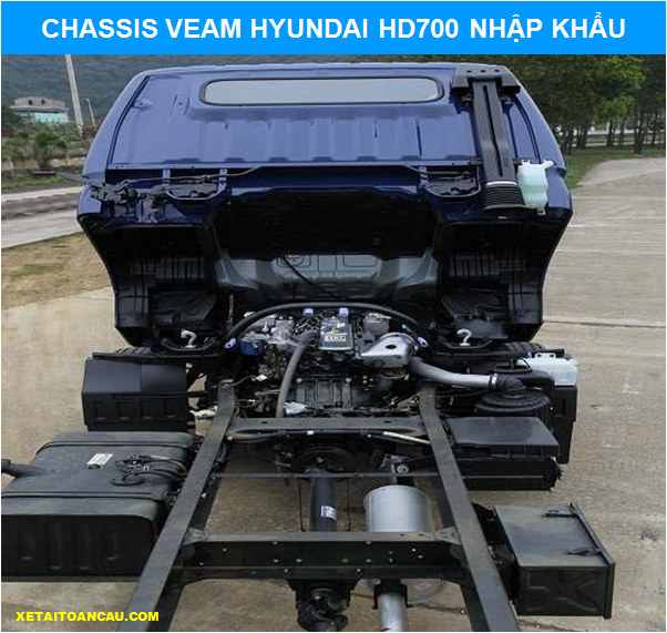 Chassis Hyundai Veam HD700 7 tấn